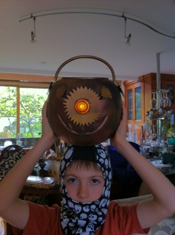 Light up Steampunk Pumpkin
