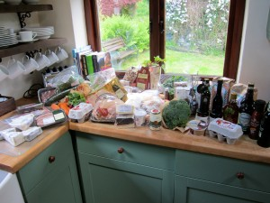 The haul from Low Sizergh Barn in our Coniston cottage's kitchen