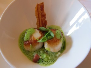 Scallops at Gilpin Lodge